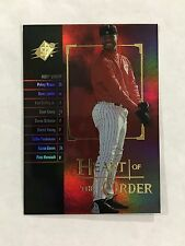 "KEN GRIFFEY JR INSERT ""HEART OF THE ORDER"" SPX 2000 REDS BASEBALL CARD"