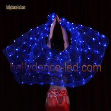 bellydance-led veil 128 leds new model Shinning sky color blue