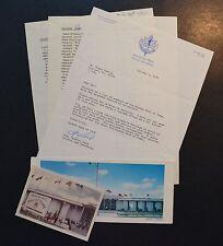 1970 Hockey Hall of Fame memorabilia lot Lefty Reid auto letterhead & postcards