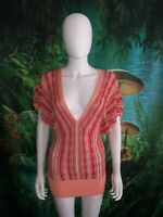 Bebe womens Orange Crochet Batwing Tunic Summer Dress Size S (F)