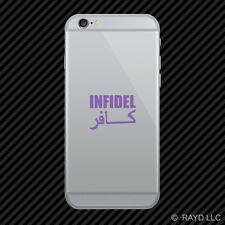 (2x) Infidel Cell Phone Sticker Mobile many colors