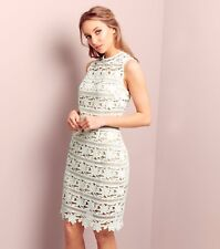 LOOK White Premium High Neck Sleeveless Bodycon Dress Size UK 16 Lf171 KK 11