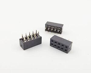 10 Pcs Pitch 2mm 2x5 Pin 10 Pin Female Double Row Straight Pin PCB Header Strip