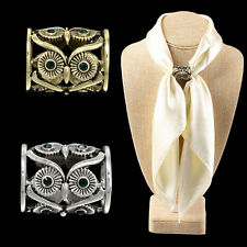 Women Buckle Pins Retro Owl Brooch Pin Scarf Clips Pins Scarf Buckle Pin PoDSZT
