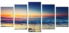 Decor 5 Panels Framed Wall Art Waves Painting On Canvas Picture Poster Home