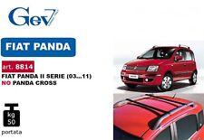 BARRE PORTATUTTO PORTAPACCHI AUTO GEV 8814 PER FIAT PANDA 2003>2011 CON RAILING