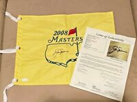 Jack Nicklaus signed 2008 Masters Tournament PGA Tour Golf Pin Flag JSA Letter
