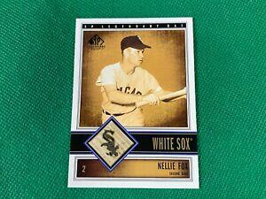 2002 SP Legendary Cuts Game Bat #BNFO Nellie Fox Chicago White Sox