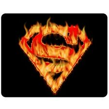 New Superman on Fire Logo Blanket Bed Gift 50x60 Inch