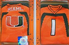 U OF MIAMI HURRICANES EMBROIDERED 2-SIDED ARM WRIST SWEAT BAND (OR DRINK HOLDER)