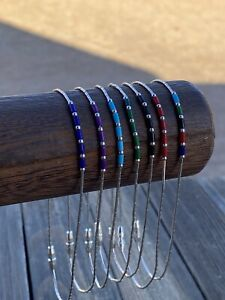 Handmade Sterling Silver Liquid Silver Anklets
