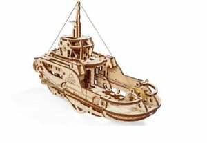 Ugears TUGBOAT 3D puzzle Mechanical Wooden Model KIT
