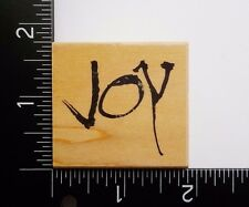 Joy By Penny Black Christmas Holiday Phrase Word Greeting Rubber Stamp #42A