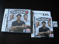 Nintendo DS Complete Topspin 3  Top Spin 3 by 2k Sports tested