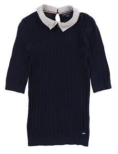 Tommy Hilfiger Damen Pullover Sweater Gr.XXS (DE 32) Zopfmuster Hemd 115410