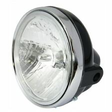 "Bikeit Motorcycle Bike Headlight Universal 7"" Round Black Headlight"