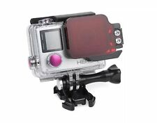 Underwater Dive red color filter Nightsea Flip Filter For GoPro Hero 4 / Hero 3+
