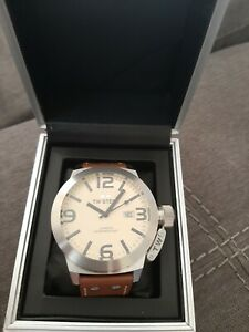 TW Steel Canteen TW21 Brown Leather Watch
