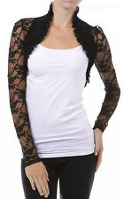 Fashion Secrets Women`s Long Sleeves Lace Bolero Shrug Cropped Cardigan Jacket