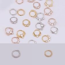 Hoop Nose Septum Ring Heart Daith Piercing Cartilage Body Earring Jewelries New