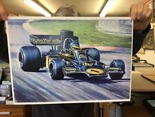New listing Ronnie Peterson in a Lotus John Player Special F1 Car Quality Print