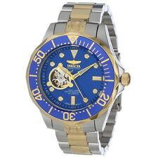 Invicta 13706 Mens Grand Diver Automatic Dive Blue Dial Two Tone Bracelet Watch