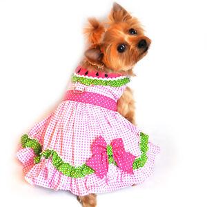 Doggie Design Dog Dress Watermelon Collar Polka Dots & Gingham XS-S-M-L