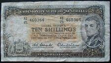 1954-60 Australia 10 Shillings Note