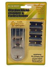 Glasschaber + 4 Ersatzklingen Ceranfeldschaber Kochfeldschaber Ceranfeldreiniger