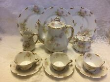 Theodore Haviland Limoges Coffee Tea Set Pot Cups Plates