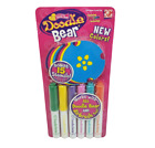 6 DOODLE BEAR / MONSTER MARKERS W/ 15 STENCILS NEW IN ORIGINAL PACKAGE