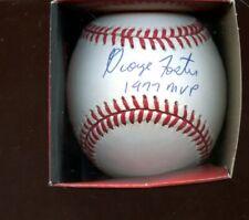 George Foster 1977 MVP Single Signed ONL White Baseball