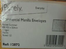 Pack of 125 Purely Everyday C3 450 x 324 mm Pocket Gummed Envelope - Manilla