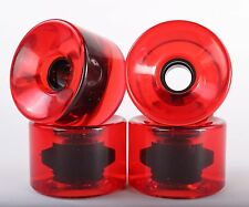 76mm 78a Longboard Wheels (Blank Clear Red)