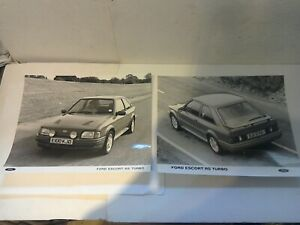 FORD ESCORT MK4 RS TURBO PROMOTIONAL PHOTO'S NEW OLD STOCK ORIGINAL FORD
