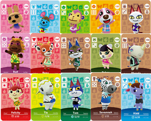 Mini Carte Animal Crossing NFC Switch lite Wii 3DS Amiibo Villageois New Horizon