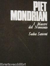 PIET MONDRIAN Italo Tomassoni SADEA Sansoni I maestri del Novecento Arte di e