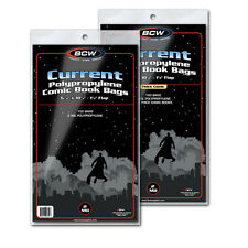(100) BCW Current Thick Comic Bags / Sleeves Acid Free