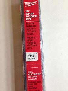 Milwaukee Electric 48-13-5560 9/16x18 Ship Auger Bit - Brand New!!!