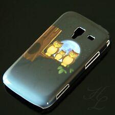 Samsung Galaxy Ace 2/i8160, funda rígida móvil, funda protectora, funda, protección estuche luna LECHUZA BÚHO