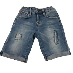 Hudson Denim Shorts Kids Girls Sz 10 Blue Bermuda Distressed Medium Wash Stretch