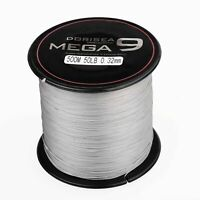 Dorisea MEGA 9 Strands 100M 300M 2000M Grey 100% pe Dyneema Braided Fishing Line