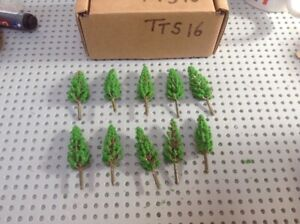 Z Scale   Set Of 10 Trees , Forest, Foliage, Scenery, Small Conifer Type (TTS16)