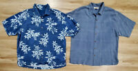 Tommy Bahama Mens Shirts Size XL Silk Lot of 2 Blue