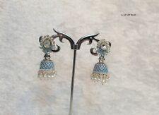 Indian Oxidized Jumka Jumki Earring Silver Colour Fashion Jewellery Women New