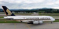 Singapore Airlines A380 at Zürich Kloten Airport