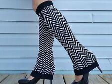 2 PAIR LOT Women Chevron Pattern Leg Warmers = 2 PAIR LOT