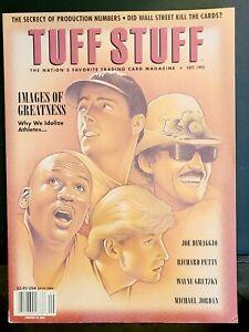 TUFF STUFF PRICE GUIDE MAGAZINE 1993 JOE DIMAGGIO MICHAEL JORDAN GRETZKY PETTY