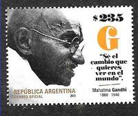 ARGENTINA 2019 INDIA MAHATMA GANDHI 150° ANIVERSARY MNH