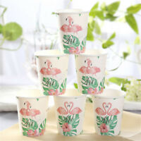 Romantic Tropical Flamingo Paper Disposable Cups Party Tableware Decor G-